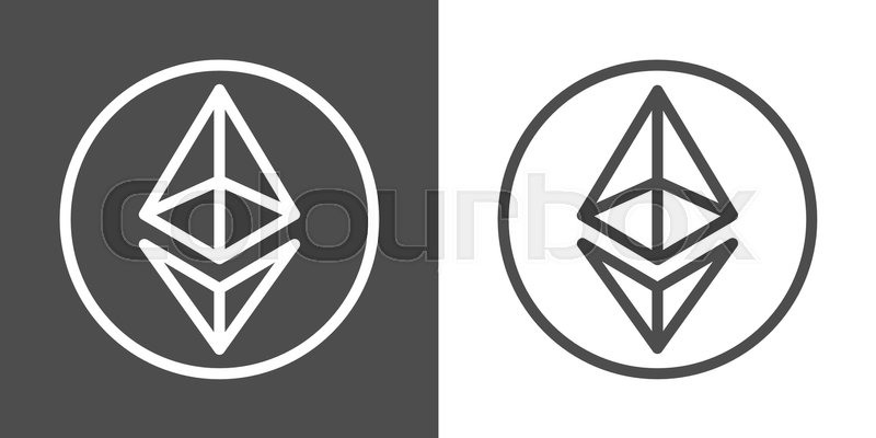 Ethereum Line Icons For Internet Money Crypto Currency Symbols And