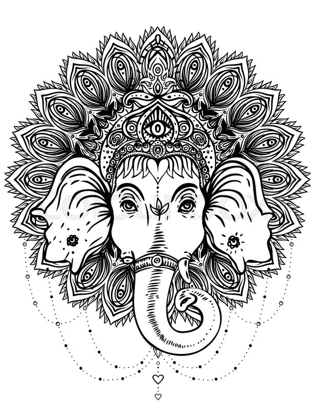 hindu hand coloring pages - photo#6