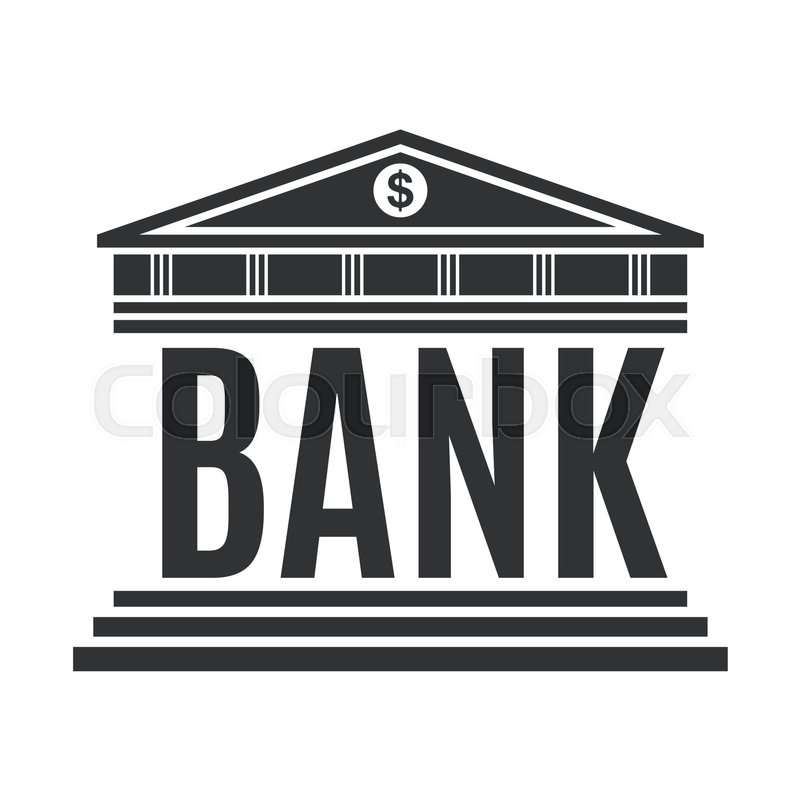 Bank Concept Icon Isolated On White Background Vector Illustration