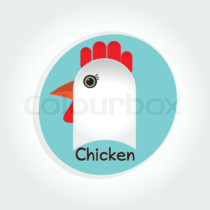 Chicken Food Rooster Vector Logo Stock Vector Colourbox
