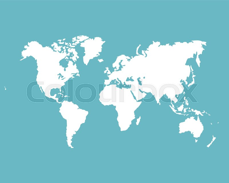 Monochrome World map Vector template for website, design, cover ...