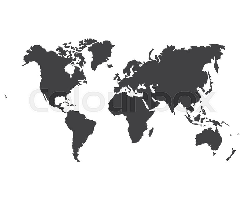 Monochrome worldmap vector template for website design cover monochrome worldmap vector template for website design cover annual reports infographics world map for infographic silhouette world map gumiabroncs Images