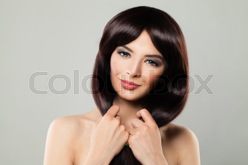 Perfect Model Young Woman With Healthy Stock Image Colourbox