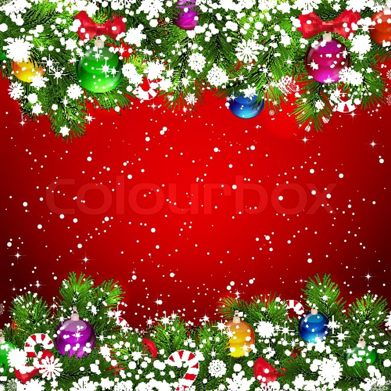 red snow christmas background - photo #27