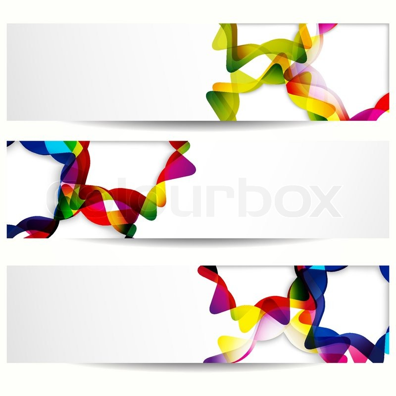 Abstract banner with forms of empty frames for your web design ...