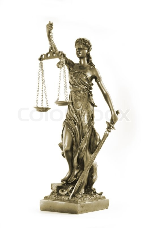 Stock image of 'Themis, mythological Greek goddess, symbol of justice ...