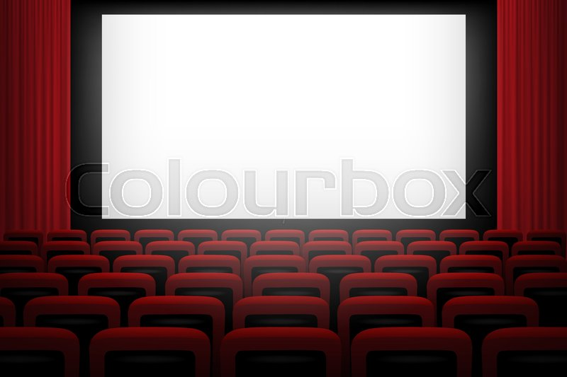 Movie Theatre Background With White Stock Vector