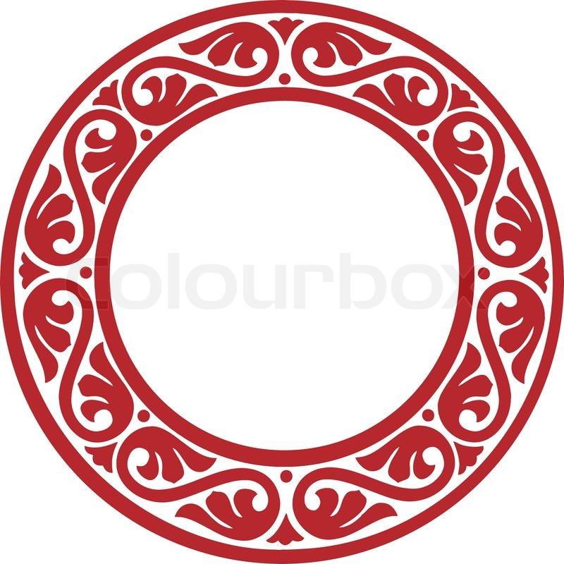 East -European traditionelle dekorative Kreis Rahmen mit abstrakten ...