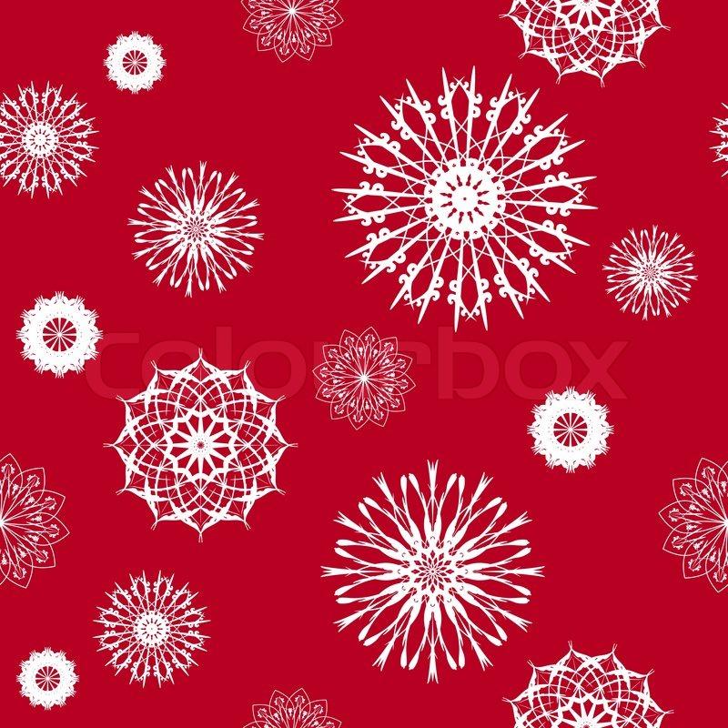 Snowflake weihnachten und neujahr seamless pattern vektor illustration