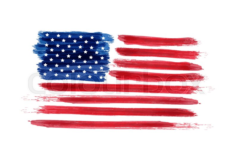 USA Independence day background. Happy 4th of July. Vector abstract grunge flag. Template for banner, greeting card, invitation, poster, flyer, etc, vector