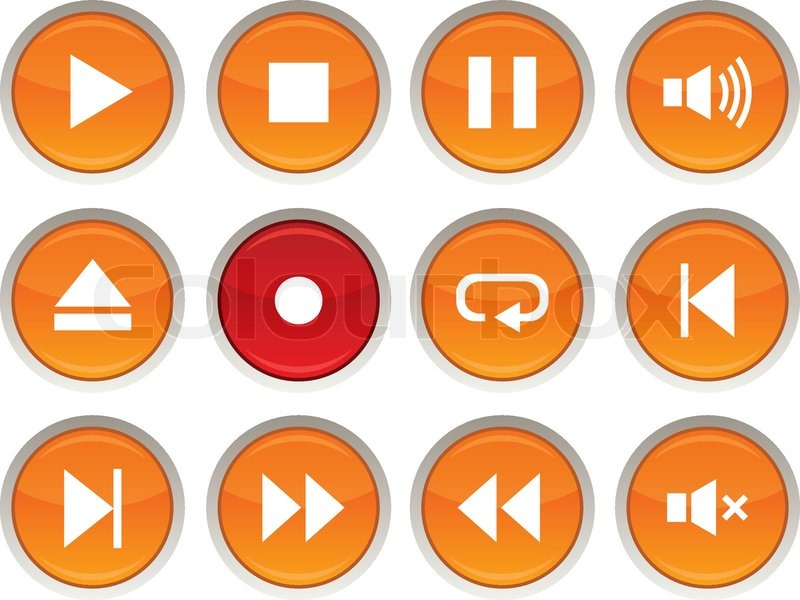 Player Icons Vector Player Glossy Icons Vector