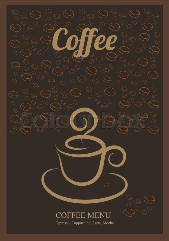 modern posters with coffee background templates with coffee for