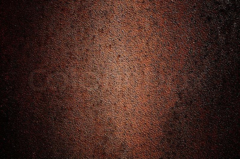 Abandoned Metallic Brown Wall Like As Background Stock