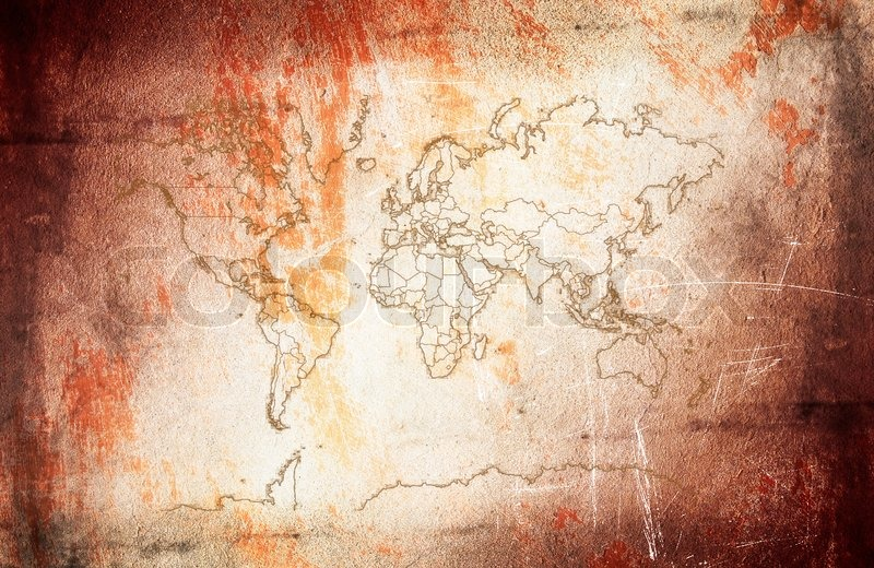 Vintagegrunge map of world on the wonderful texture stock photo vintagegrunge map of world on the wonderful texture stock photo colourbox gumiabroncs Gallery