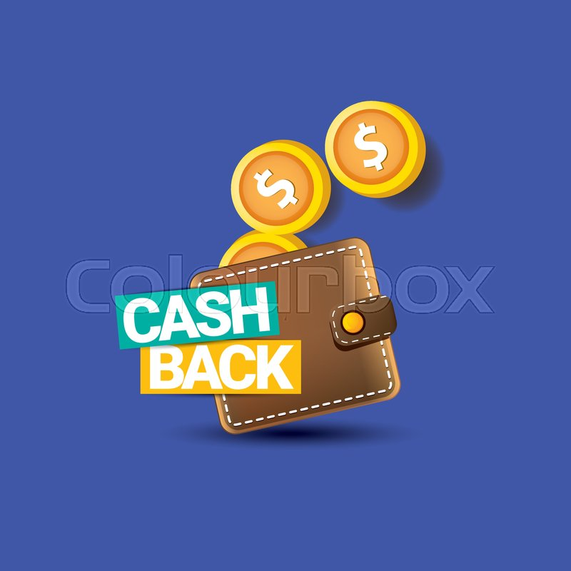 vector cash back icon with coins and stock vector colourbox colourbox