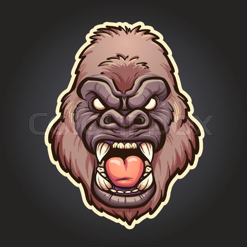 ff3359327 Angry gorilla mascot. Vector clip art ... | Stock vector | Colourbox