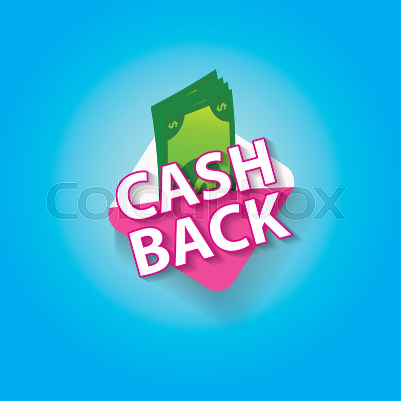 vector cash back icon isolated on blue stock vector colourbox colourbox