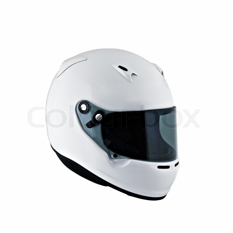 Motorcycle Helmet Outline Modern White Motorcycle Helmet