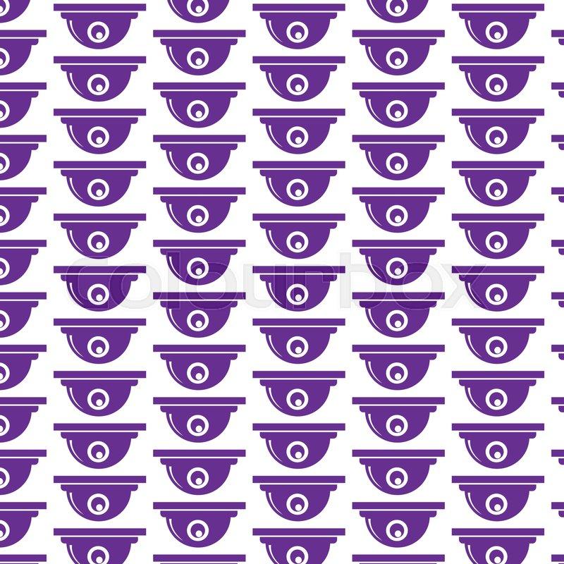 Pattern background CCTV Camera Icon   Stock vector