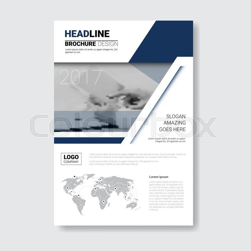 Template Design Brochure Annual Report Magazine Poster Corporate Presentation Portfolio Flyer With Copy Space Vector Illustration