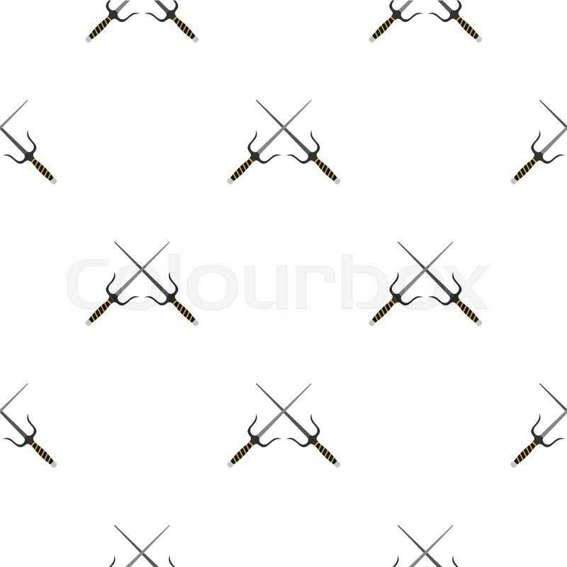 Sai weapon pattern seamless background     | Stock Vector