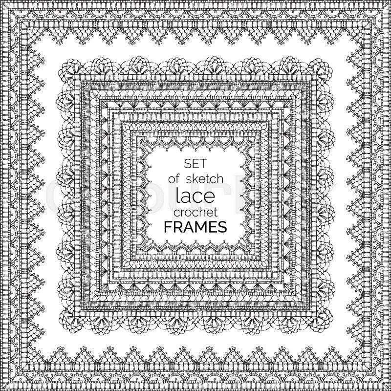 Ornate Crochet Borders Edging And Border Patterns Decorative