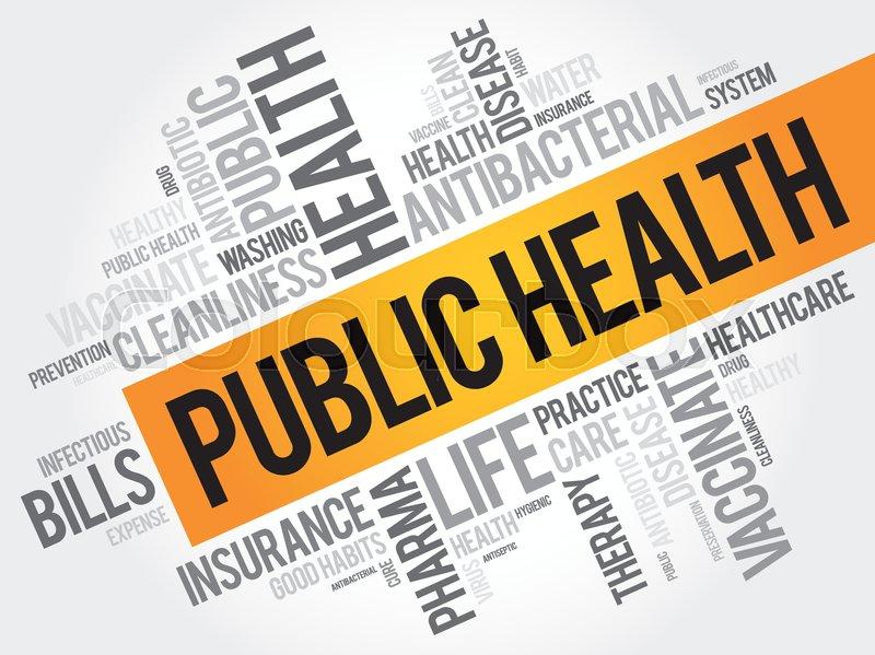 Public Health Word Cloud Collage Stock Vector Colourbox