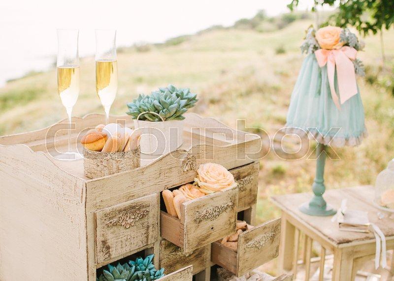 Wedding Decor Outdoor Vintage Beige Stock Photo Colourbox