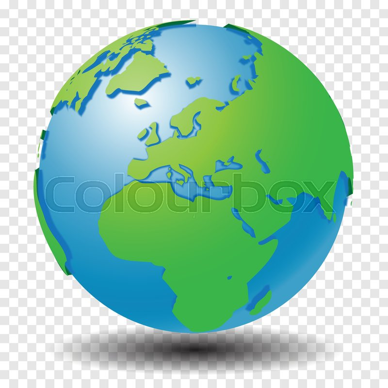 Globe with world map show middle east and europe region with smooth globe with world map show middle east and europe region with smooth vector shadows on transparency grid vector illustration vector gumiabroncs Images