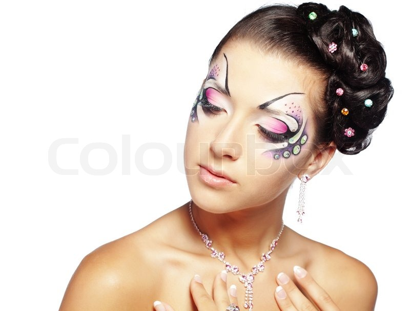 Fashion Make Up With Face Art And Stock Photo Colourbox