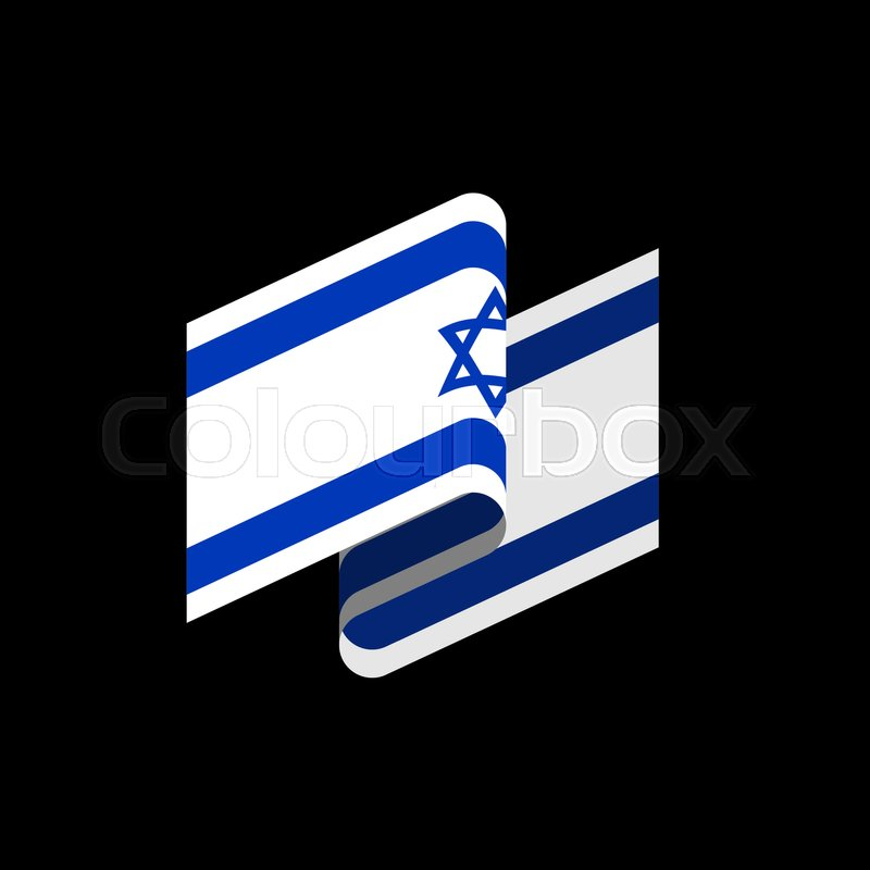 Israel Flag Isolated Israeli Banner Ribbon Jewish Symbol Of State