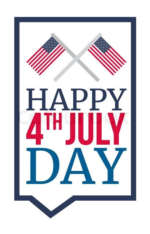 4th of july usa independence day celebration banner national 4th of july usa independence day celebration banner national american greeting vector stock vector colourbox m4hsunfo