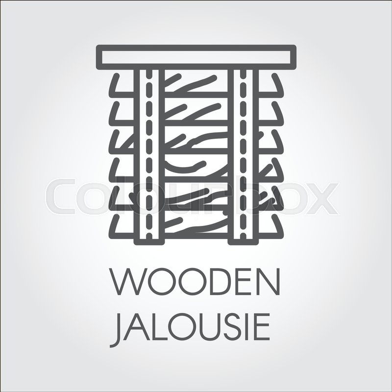 Simple Line Logo Of Wooden Jalousie Label For Home And Office Cool Home Interior Design Catalogs Concept