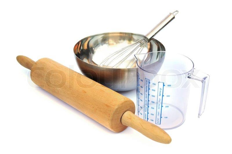 Baking Tools Isolated On White Background Stock Photo