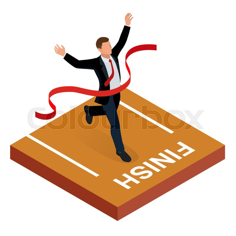 isometric people entrepreneur businessman leader businessman and
