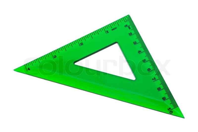 Green triangle on a white background | Stock Photo | Colourbox