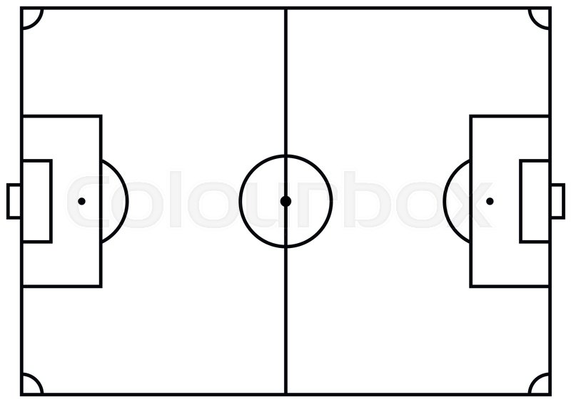 Soccer field or football field vector illustration stock vector soccer field or football field vector illustration stock vector colourbox ccuart Image collections