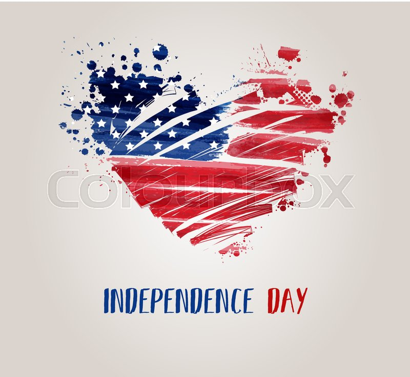 USA Independence day background. Happy 4th of July. Vector abstract ...