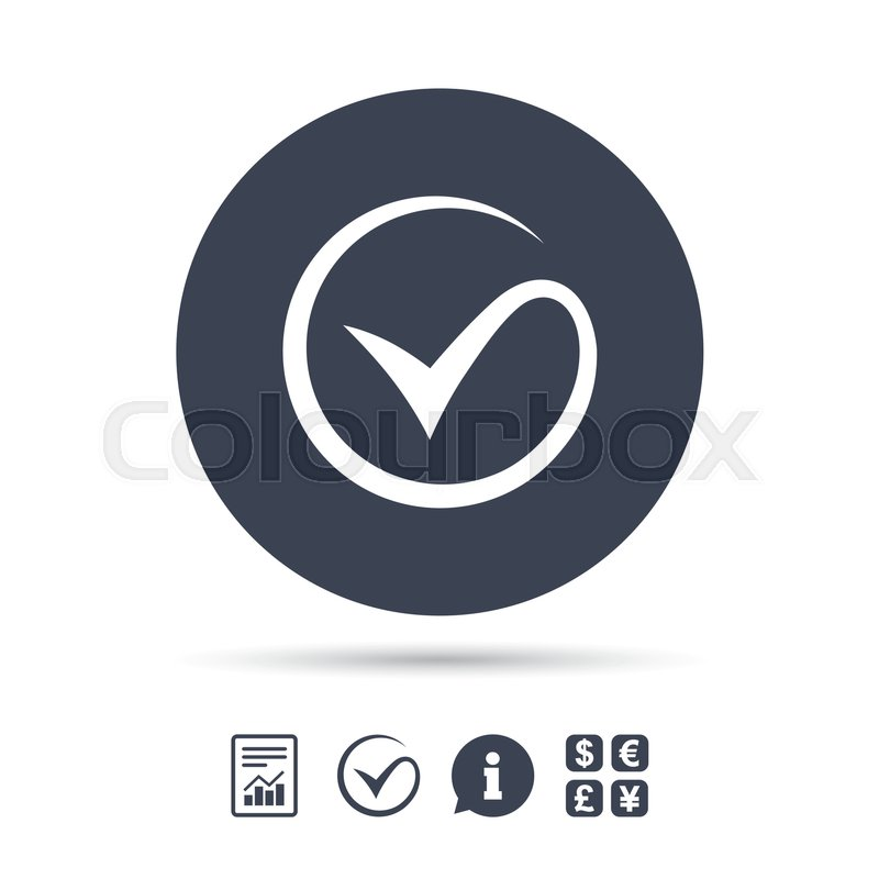 Tick Sign Icon Check Mark Symbol Report Document Information And
