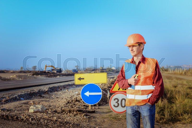 Civil engineering, road construction   Stock image   Colourbox