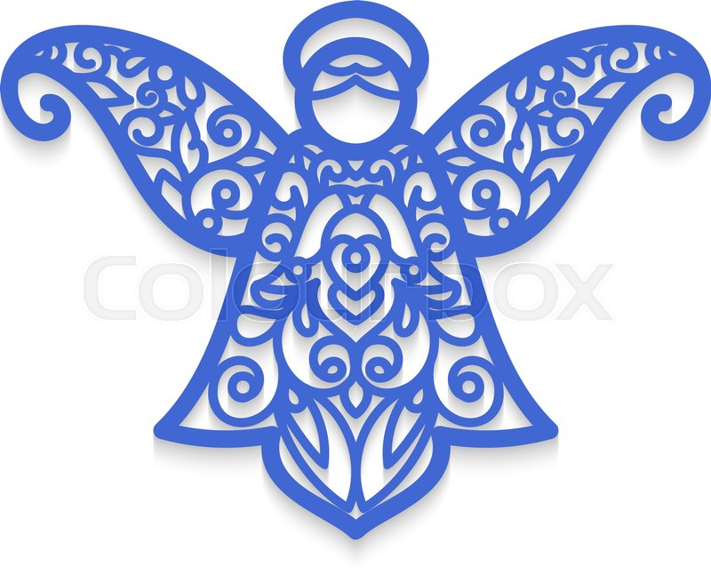 Angel laser cutting christmas tree decoration laser for Angel tree decoration template