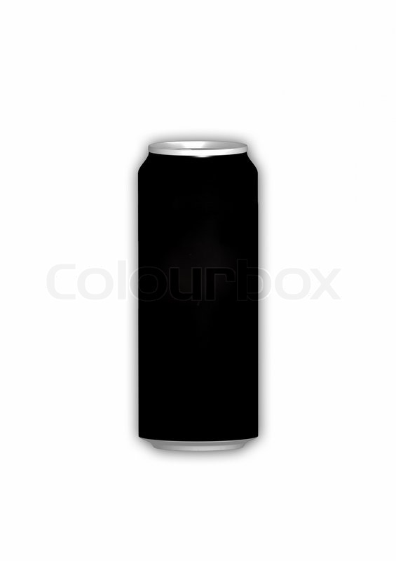 drink can from blank aluminum isolated on white background