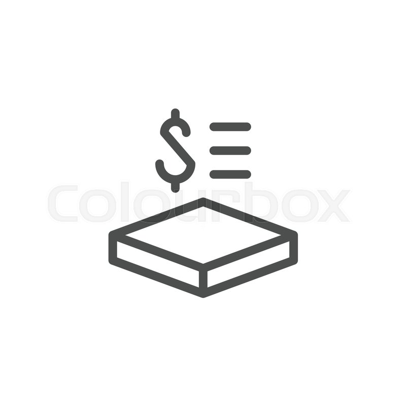 Price Per Square Meter Line Icon Isolated On White Vector