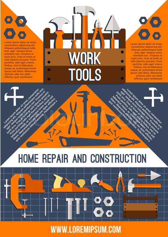 Home repair and construction work ... | Stock vector ...