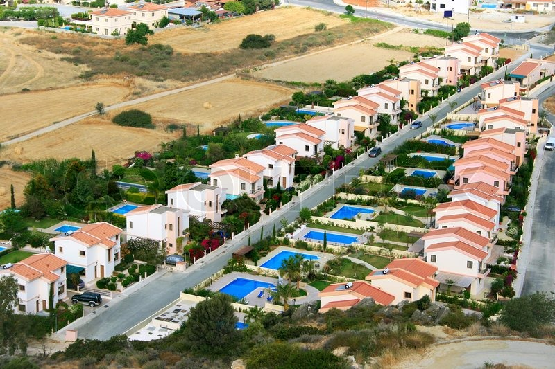 Best Cyprus Cars >> Residential area in Cyprus. | Stock Photo | Colourbox