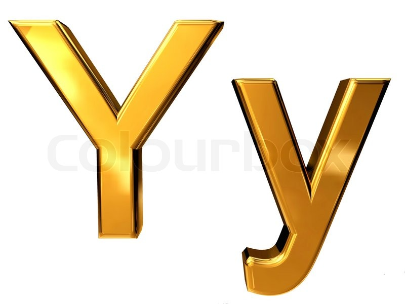 y letter in gold - photo #15