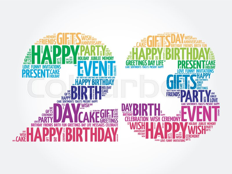 Happy 23rd birthday word cloud collage concept stock vector happy 23rd birthday word cloud collage concept stock vector colourbox m4hsunfo
