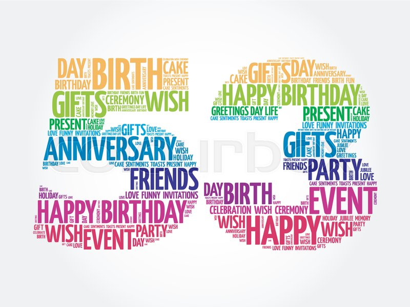 Happy 53rd birthday word cloud collage concept stock vector happy 53rd birthday word cloud collage concept stock vector colourbox m4hsunfo