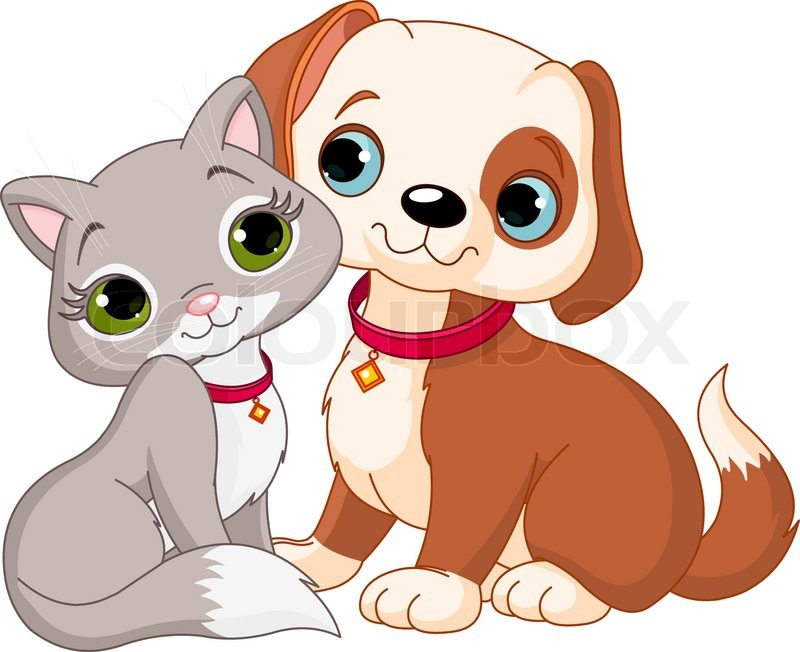 Dog And Cat Best Friends Ever Stock Vector Colourbox