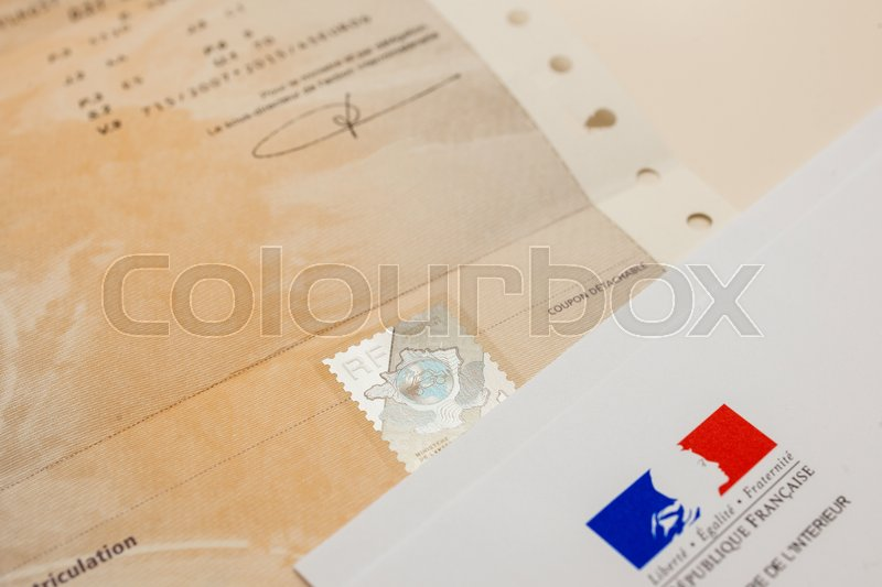 paris france oct 26 2016 special postal envelope with the logo of the ministry of the. Black Bedroom Furniture Sets. Home Design Ideas